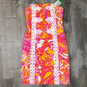 😮NWT😲 Stunning Lilly Pulitzer Strapless Dress